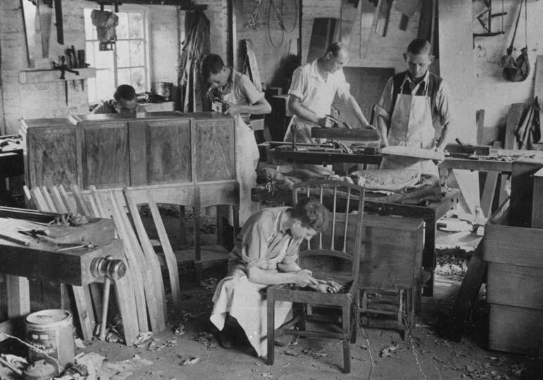 Edward Barnsley's Workshop c.1936.