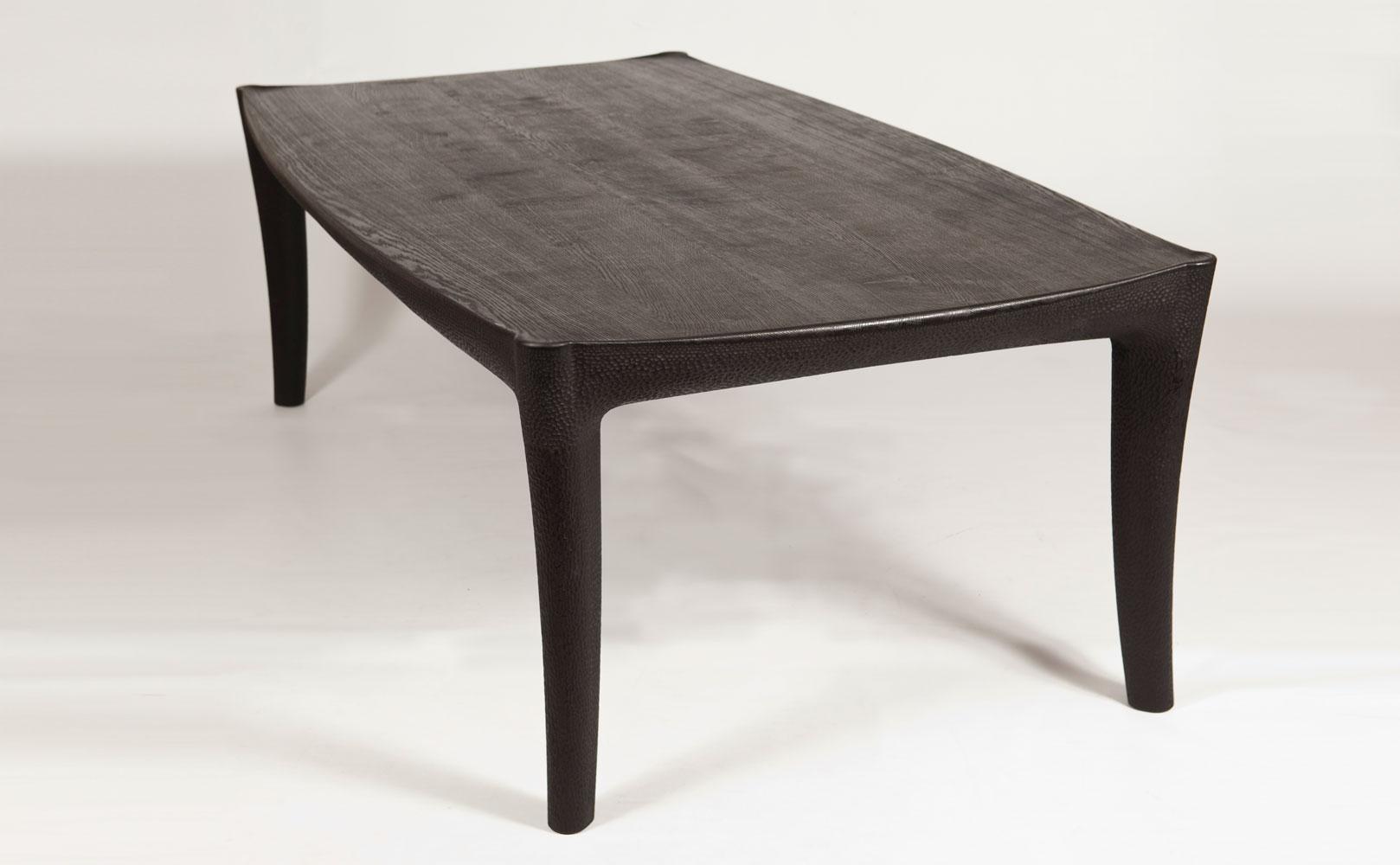Scorched Oak Dining Table - Edward Barnsley Workshop